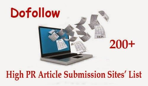 Top High PR Article Submission Directory List For Backlinks