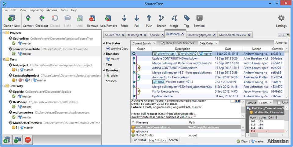 Free Mercurial and Git Client for Windows and Mac | Dev