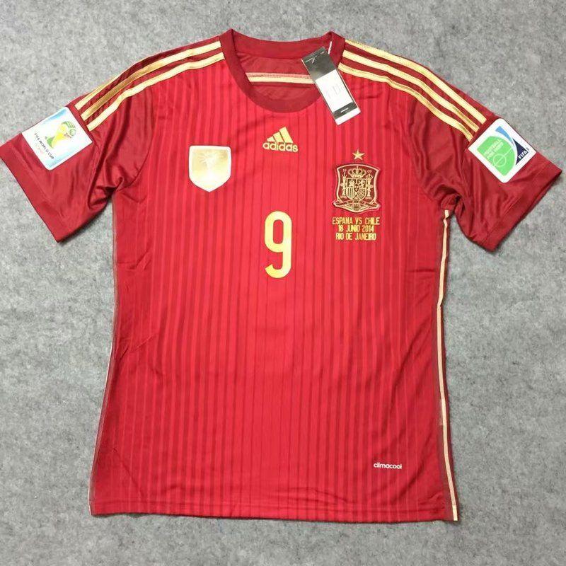 Spain national football team Torres  9 Adidas WC 2014 Retro Classic Ca –  www. 03cb3090d