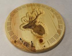 Elk+Round+Cribbage+Board - the cribbage guy