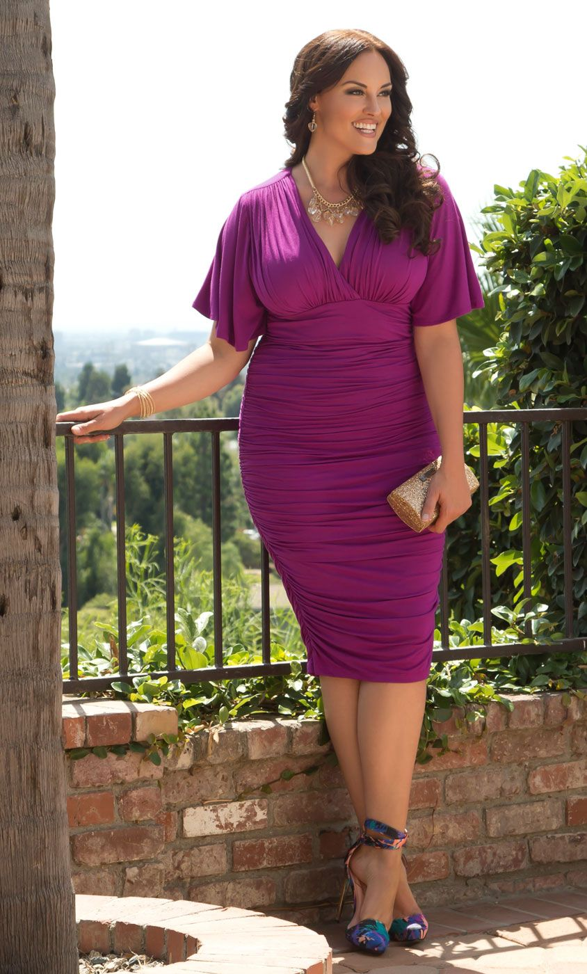 857afc8d035 Check out the deal on Rumor Ruched Dress at Kiyonna Clothing