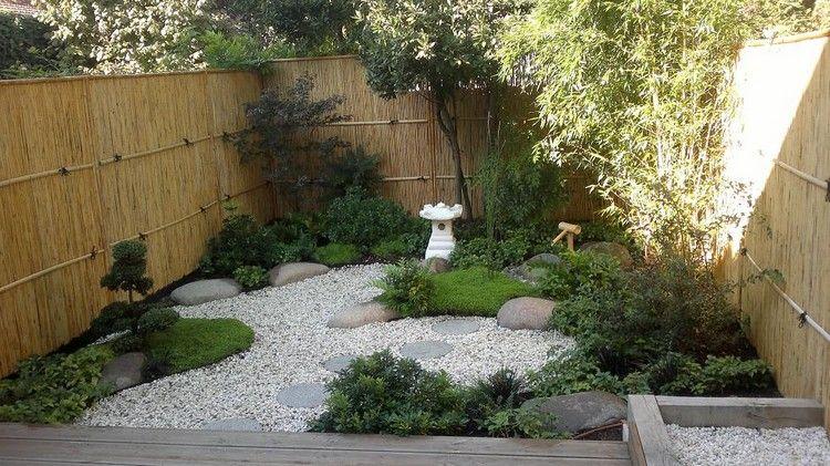 inspiration kleiner japanischer garten hinterhof zaun bambus ...