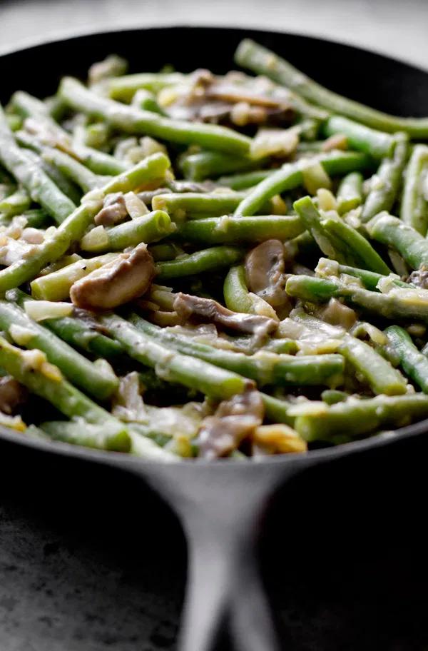Vegan Green Bean Casserole #greenbeancasserole