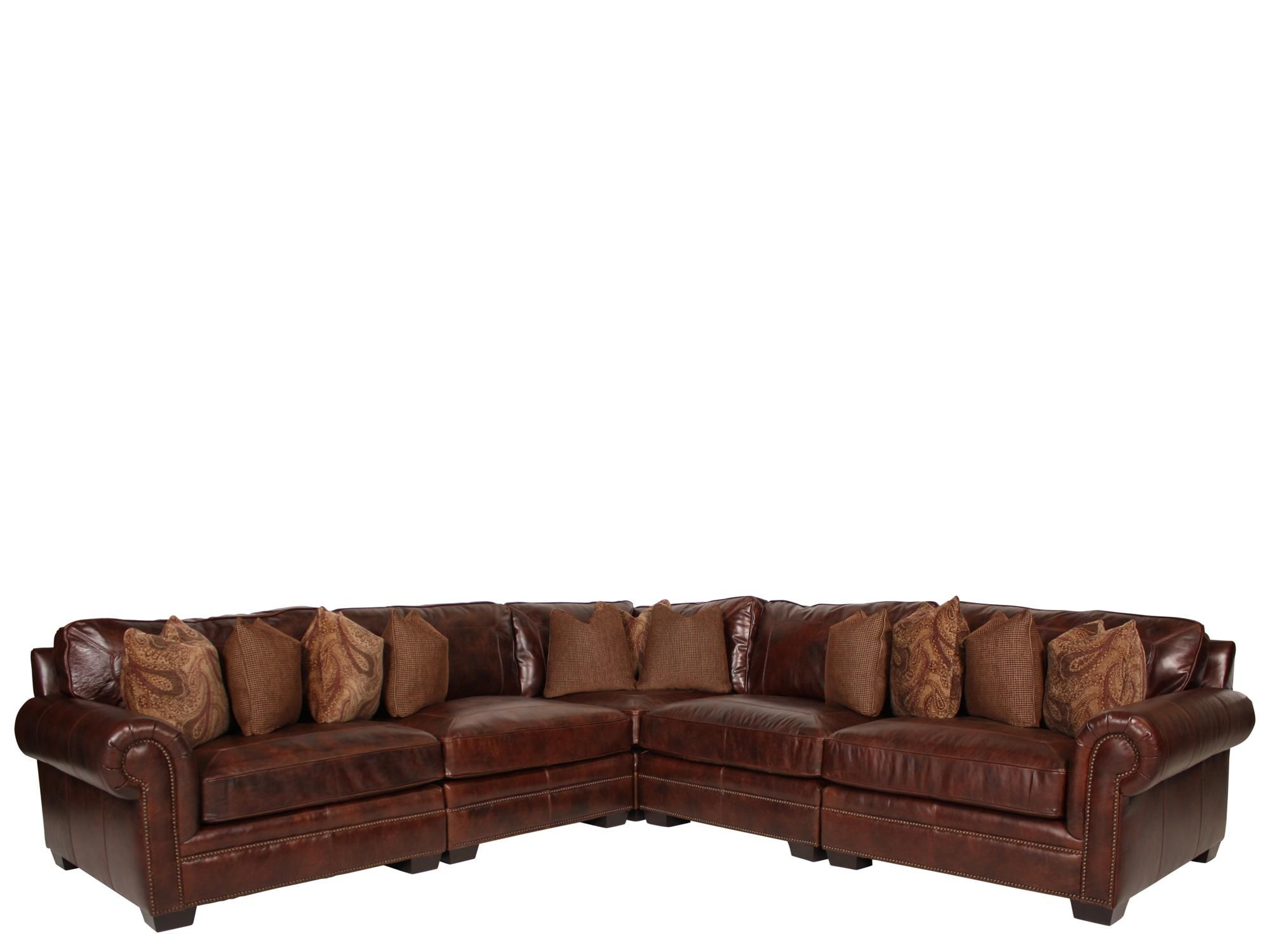 add some western flair with throw pillows and a throw Leather