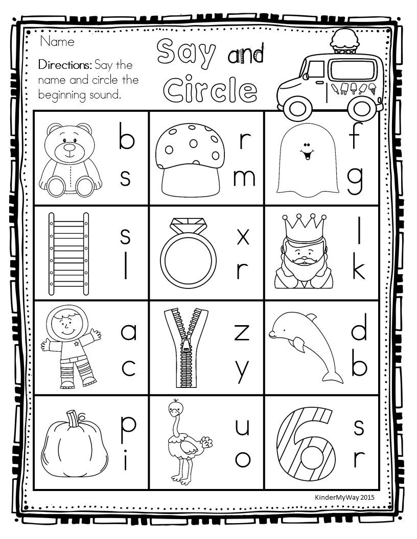 Preschool Summer Printables No Prep  Writing Letters Number