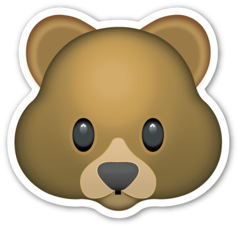 Pin by Brandy Truitt on Stickers Bear emoji, Bear face
