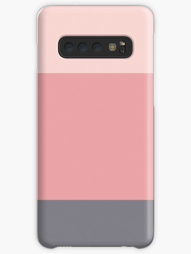 'Blush Pink and Lavender Grey Stripes' Case/Skin for Samsung Galaxy by