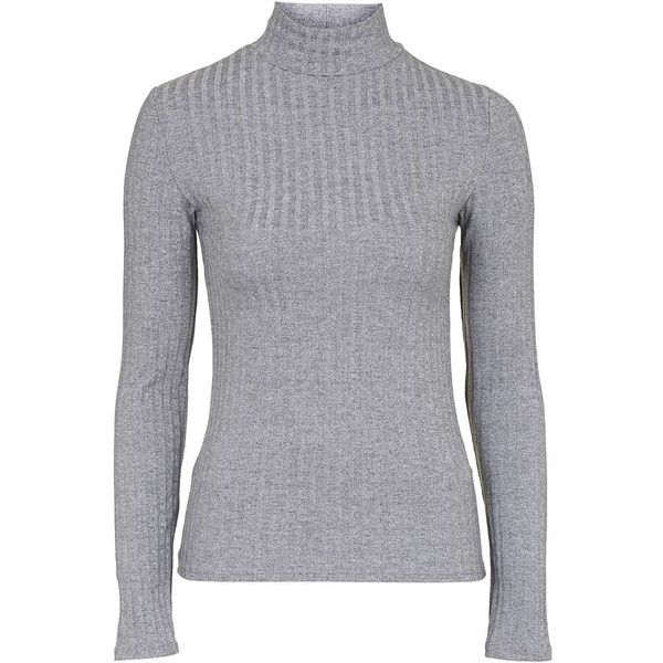 40e15cc2d2dce TOPSHOP Ribbed Funnel Neck Top ( 24) ❤ liked on Polyvore featuring tops
