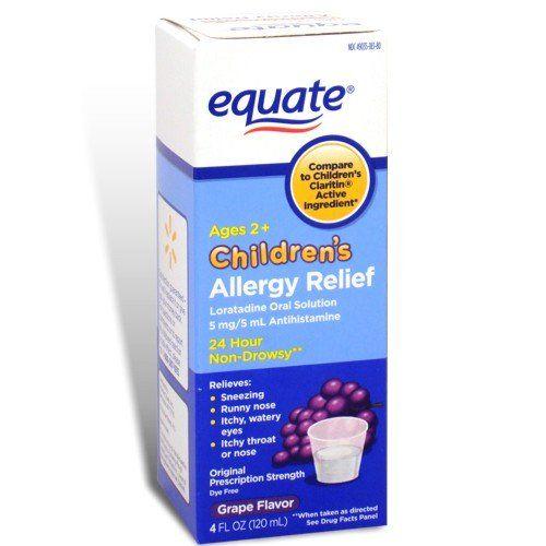 Equate Childrens Allergy Relief Loratadine Oral Solution