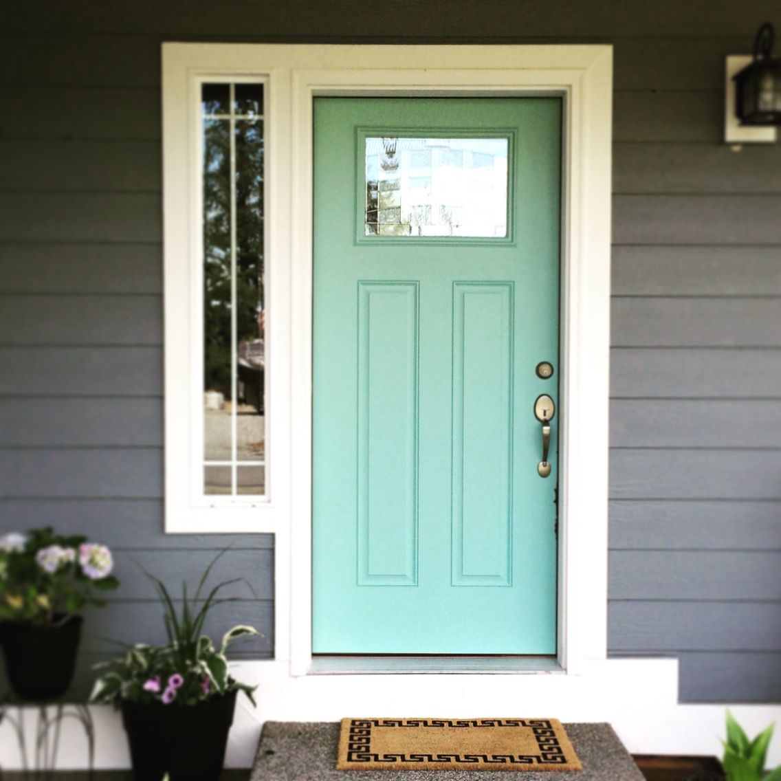 Perfect Accent Front Door Color Kentucky Bluegrass By Glidden House Paint Exterior Front Door Beautiful Doors