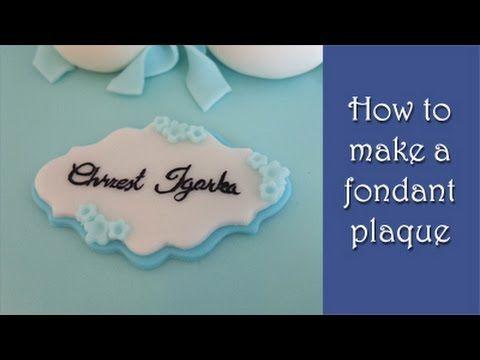 How To Make A Fondant Plaque Tutorial Jak Zrobic Plakietke Z Masy Cukrowej Fondant Cake Tutorial Cake Topper Tutorial Fondant Cake Toppers