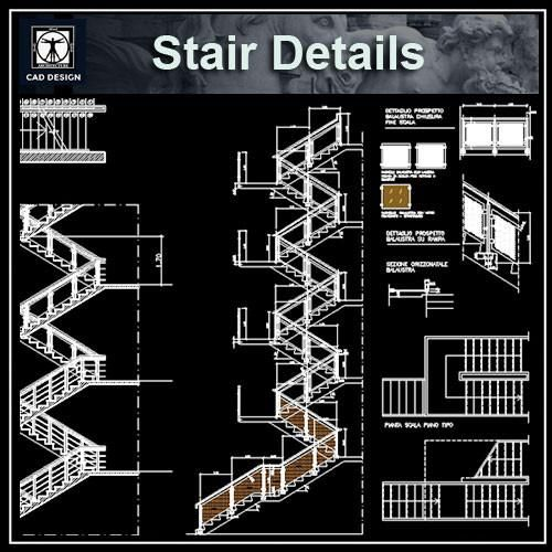 Free rc stair details autocad blocks autocad symbols Spiral stair cad