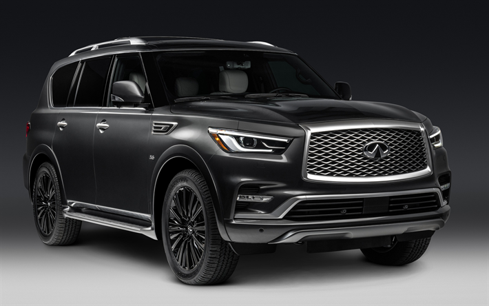 Download Wallpapers Infinity QX80, 2018, Limited, Large