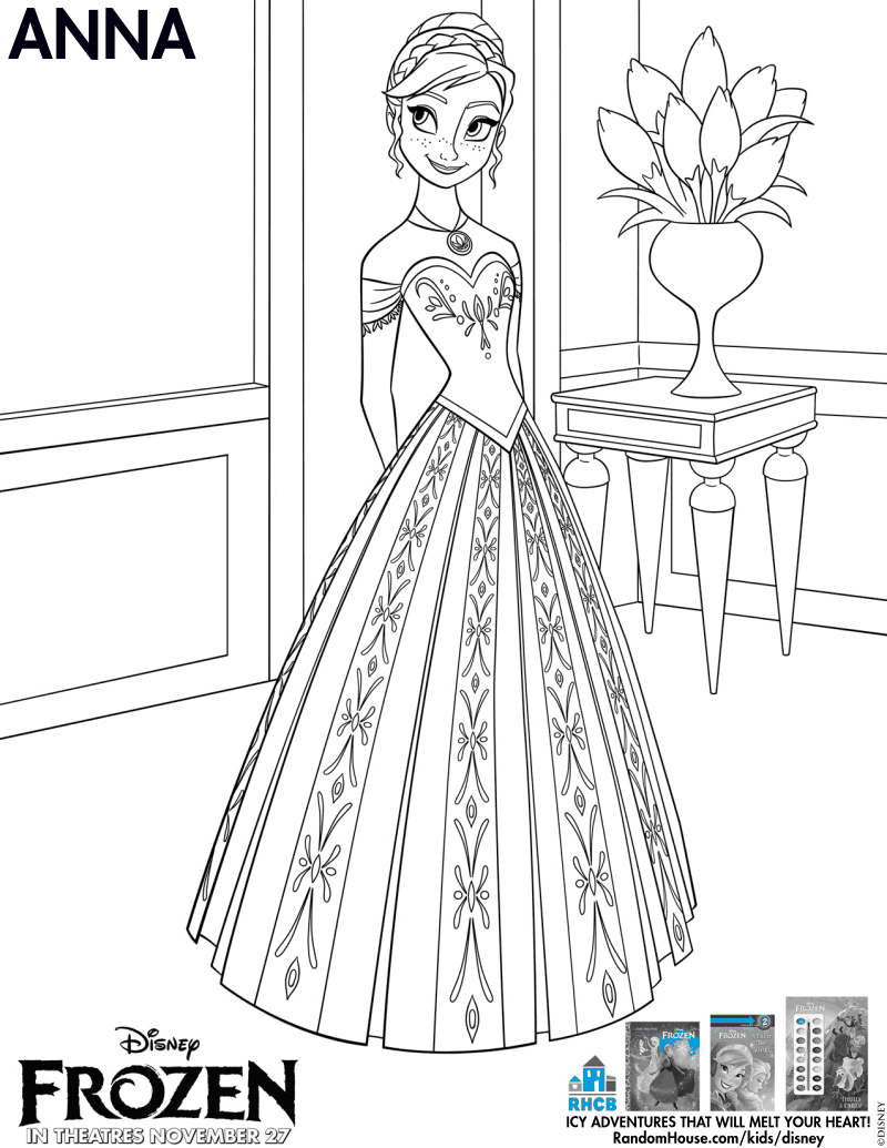 Frozen Anna Coloring Page Pdf Arts Crafts Pinterest Pdf