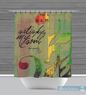 Bob Marley Shower Curtain Satisfy My Soul By Brandifitzgerald