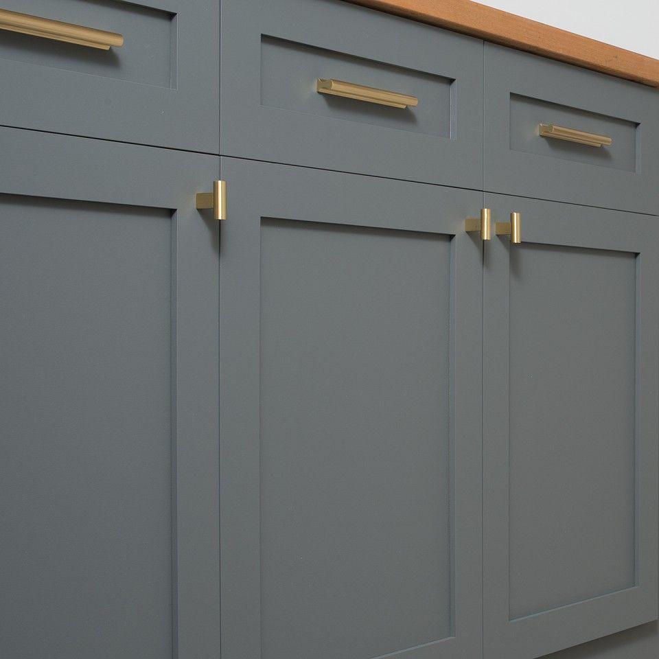 Satin Brass Cabinet Pulls Mid Century Knob Natural Brass Brass Drawer Pulls Kitchen
