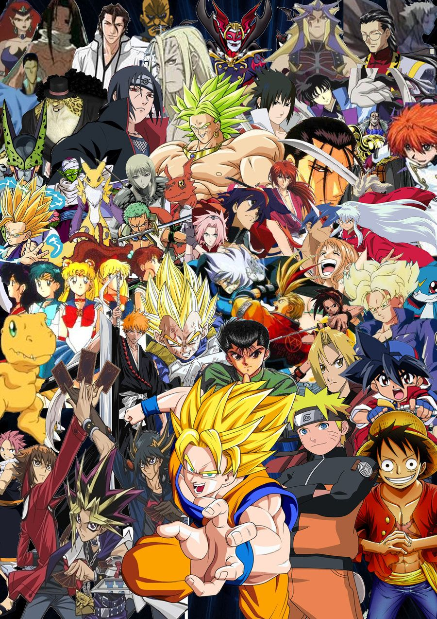 Anime All Stars By Supersaiyancrash Deviantart Com On Deviantart