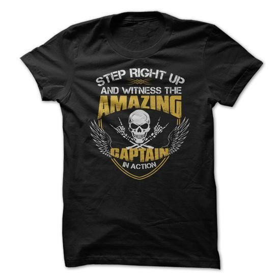 Awesome Captain Shirt T Shirts, Hoodies Sweatshirts. Check price ==► http://store.customtshirts.xyz/go.php?u=https://www.sunfrog.com/Camping/Awesome-Captain-Shirt-4707019-Guys.html?41382