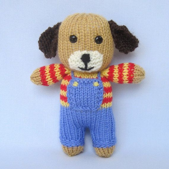 Peanut The Puppy Knitted Toy Animal Doll Instant Download Pdf