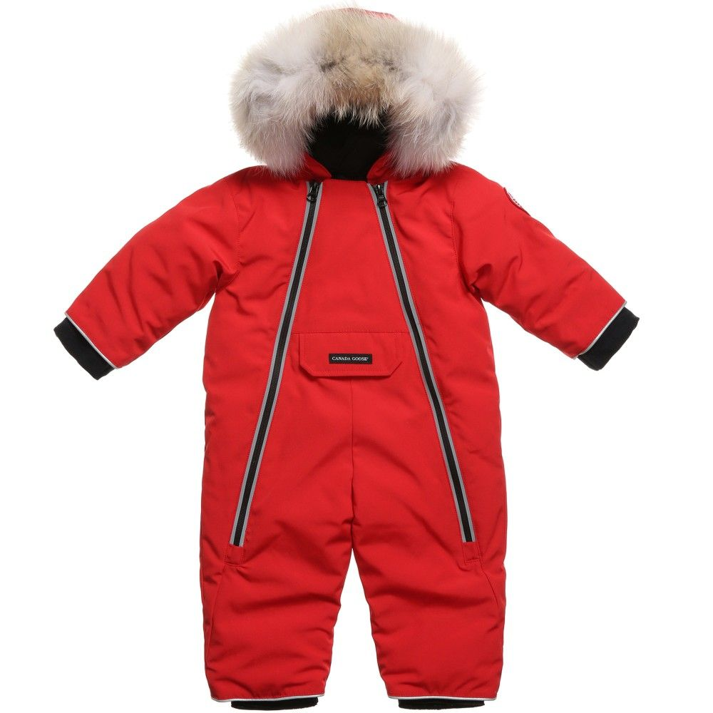 aeb95d385b2 Canada Goose red snowsuit, suitable for both baby boys and girls ...