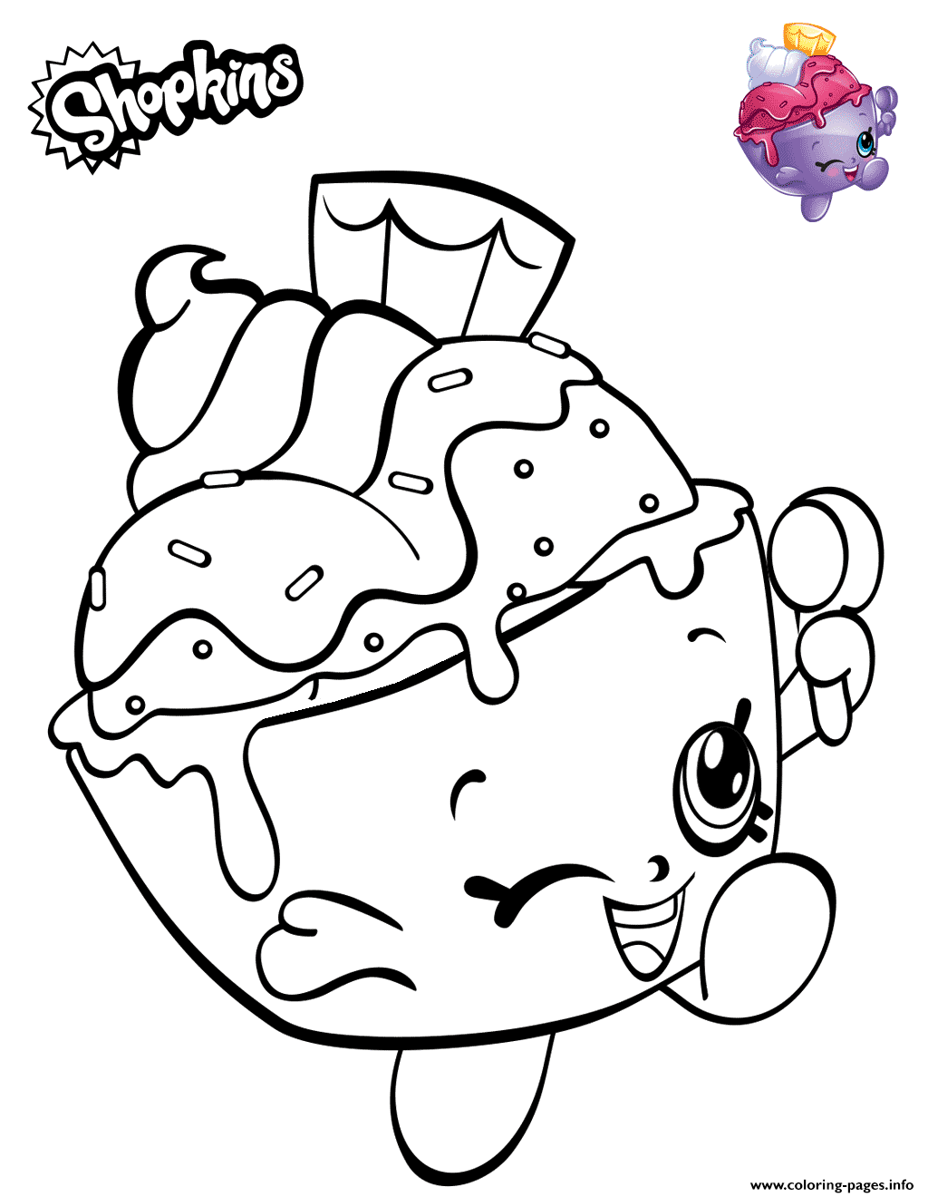 Print Shopkins Ice Cream Cup Coloring Pages Shopkin Coloring Pages Shopkins Coloring Pages Free Printable Cute Coloring Pages