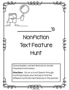 nonfiction text features worksheet first grade resultinfos. Black Bedroom Furniture Sets. Home Design Ideas