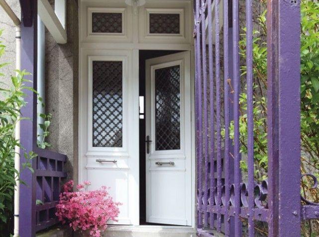 Les portes d\u0027entrées donnent le ton - Elle Décoration Entry hall - pose d une porte d entree