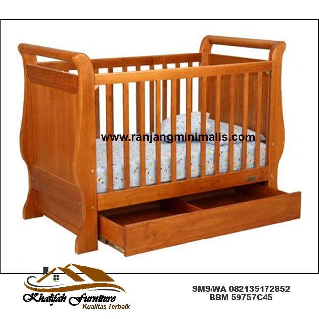 Tempat Tidur Bayi Dari Kayu