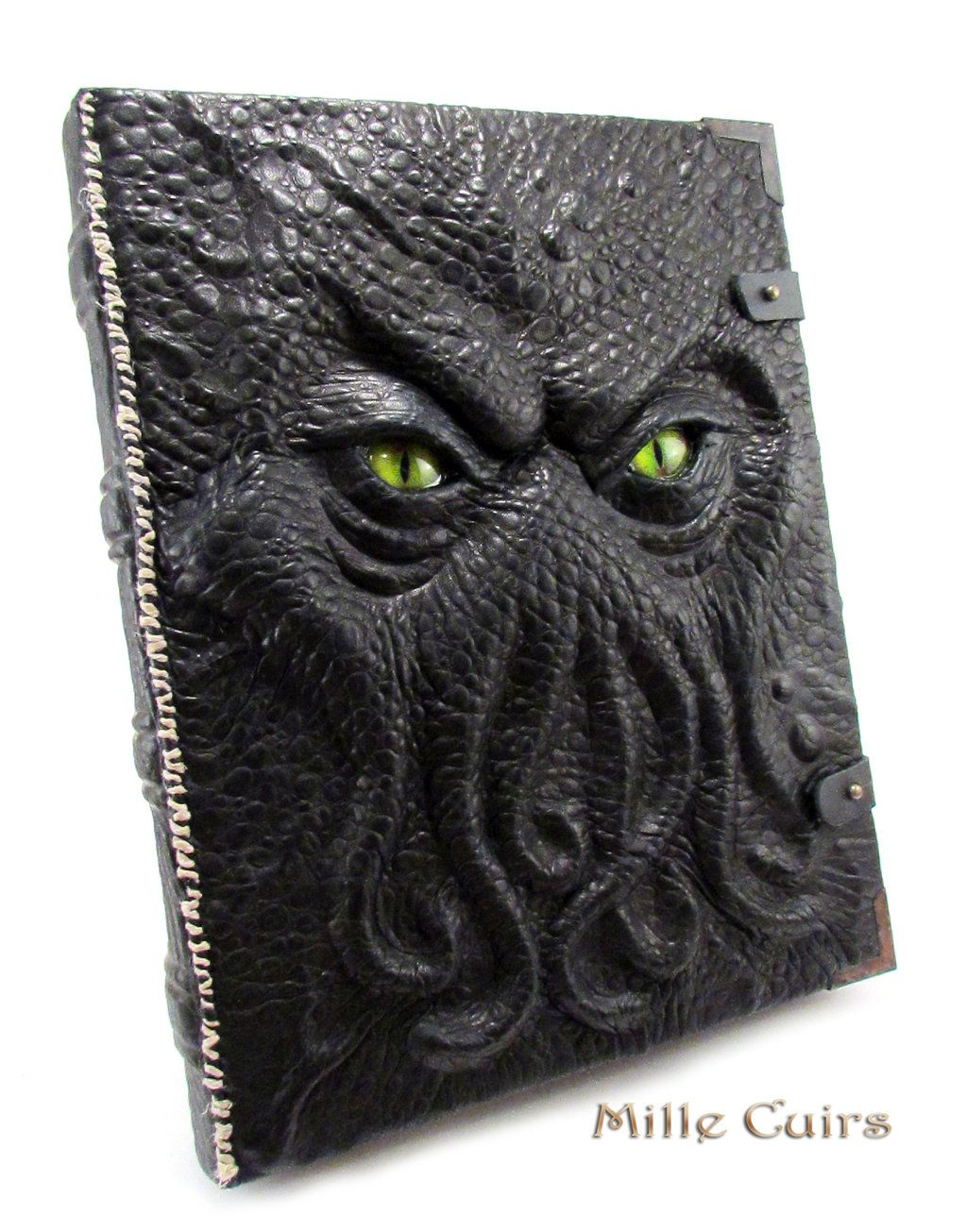 Ancient Chthonian Book Livre de Cthulhu by MilleCuirs