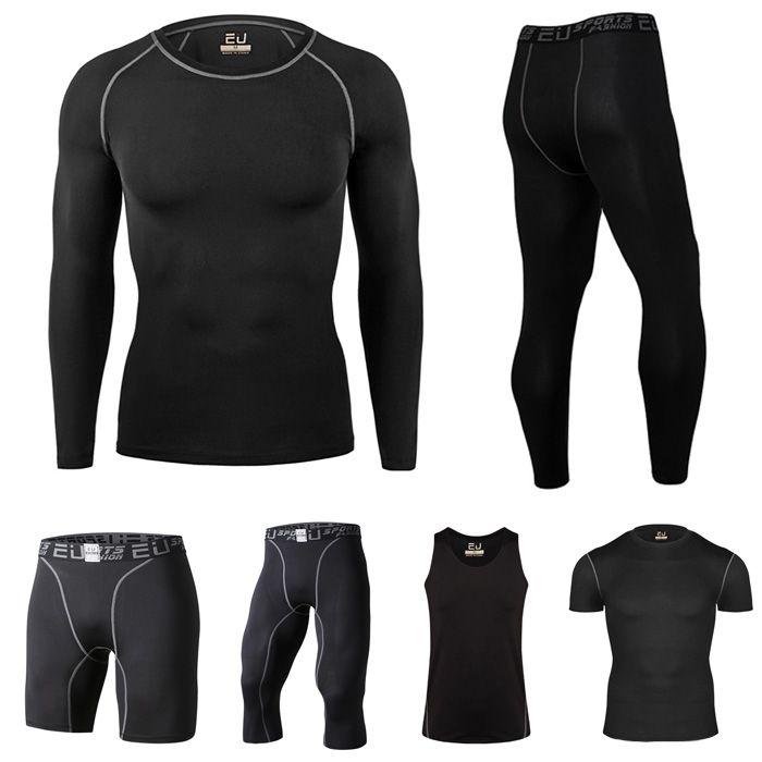 Hommes De Compression À Manches Longues Jersey Vélo T-shirts À Séchage Rapide Chemises Vélo de Course Sport Collants Vélo Maillots Vélo Clothing