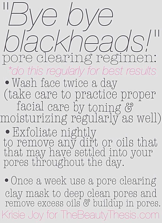 bye bye blackheads  a blackhead prevention routine
