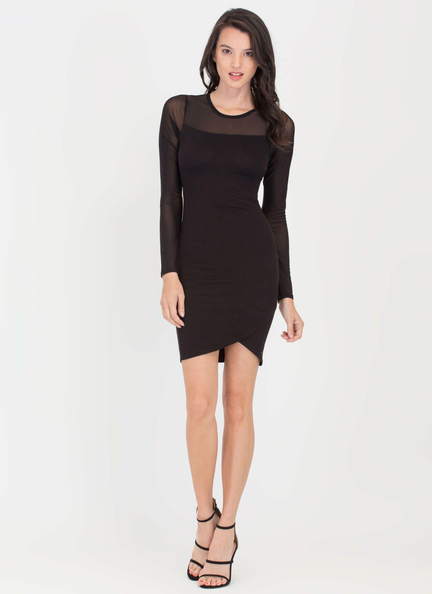 Sheer Bliss Mesh Tulip Hem Dress GoJane.com