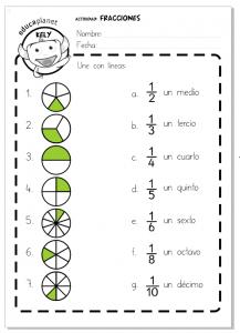 FRACCIONES - FICHA FÁCIL | Ideas | Pinterest | Mathe, Mathematik und ...