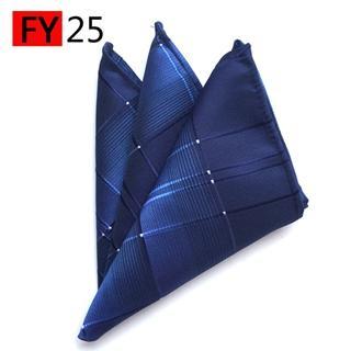 c9070b440a37 Mantieqingway 25*25cm Polyester Handkerchief Men's Business Suit Floral Pocket  Square Hankies Classic Design Plaid Pocket Towel