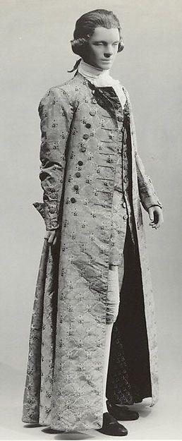 French silk banyan, c. 1760