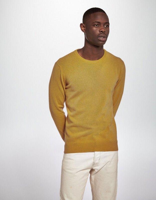 Merino and Cashmere Crew Knit (mustard)