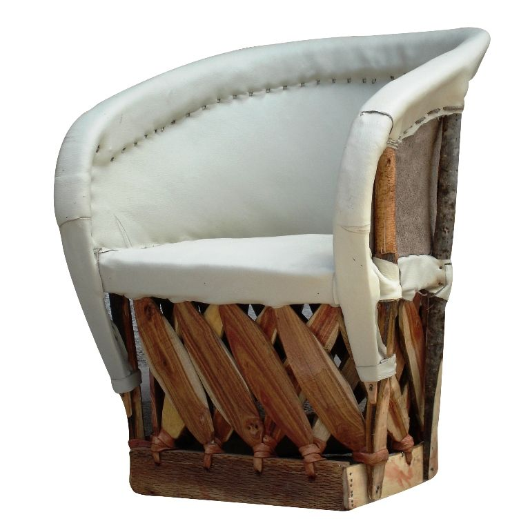 This Child Size Equipale Barrel Chair, Crafted From Tanned Pigskin And  Mexican Cedar Strips, Is Stylish And Durable. Equipal Furniture Will Create  A ...