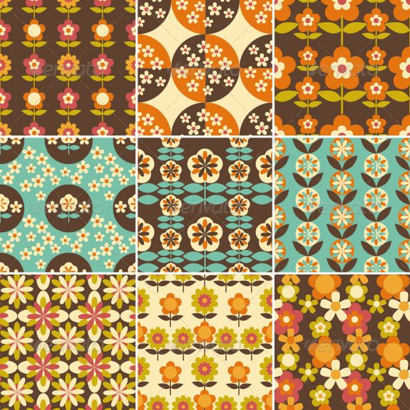 70s patterns flower power! Retro