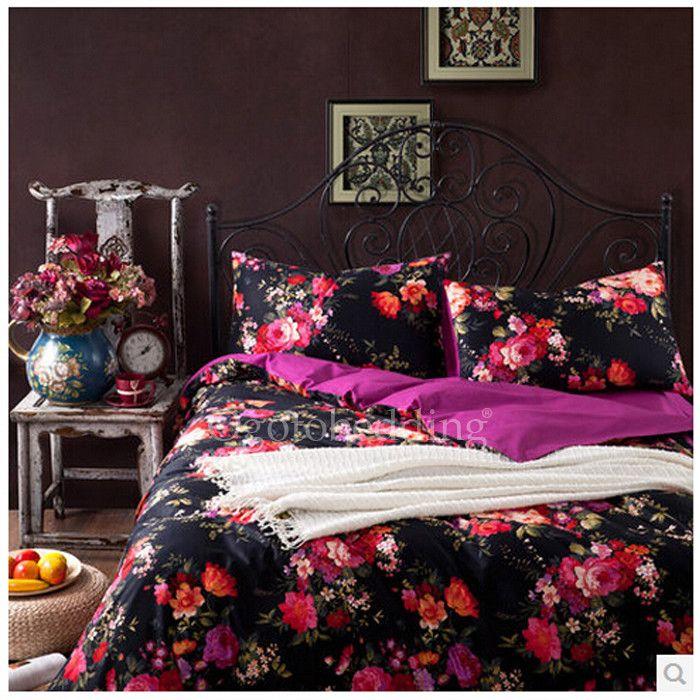 17++ Dark floral duvet cover trends