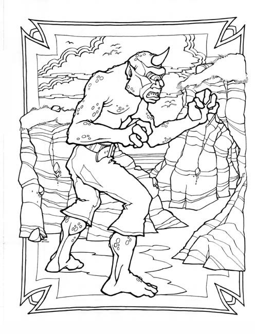 Cyclops | Coloring Pages (Classic Monsters) | Pinterest | Cyclops ...