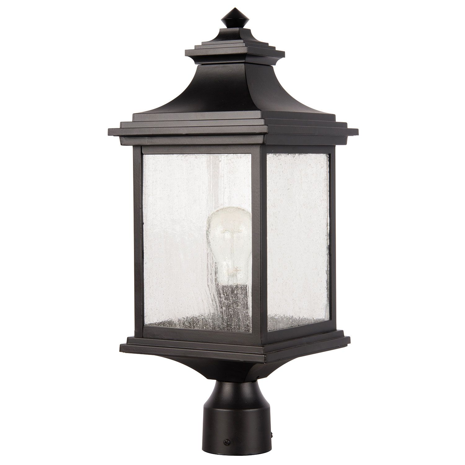 Gentry Midnight One Light Outdoor Post Mount Craftmade Post Mounted