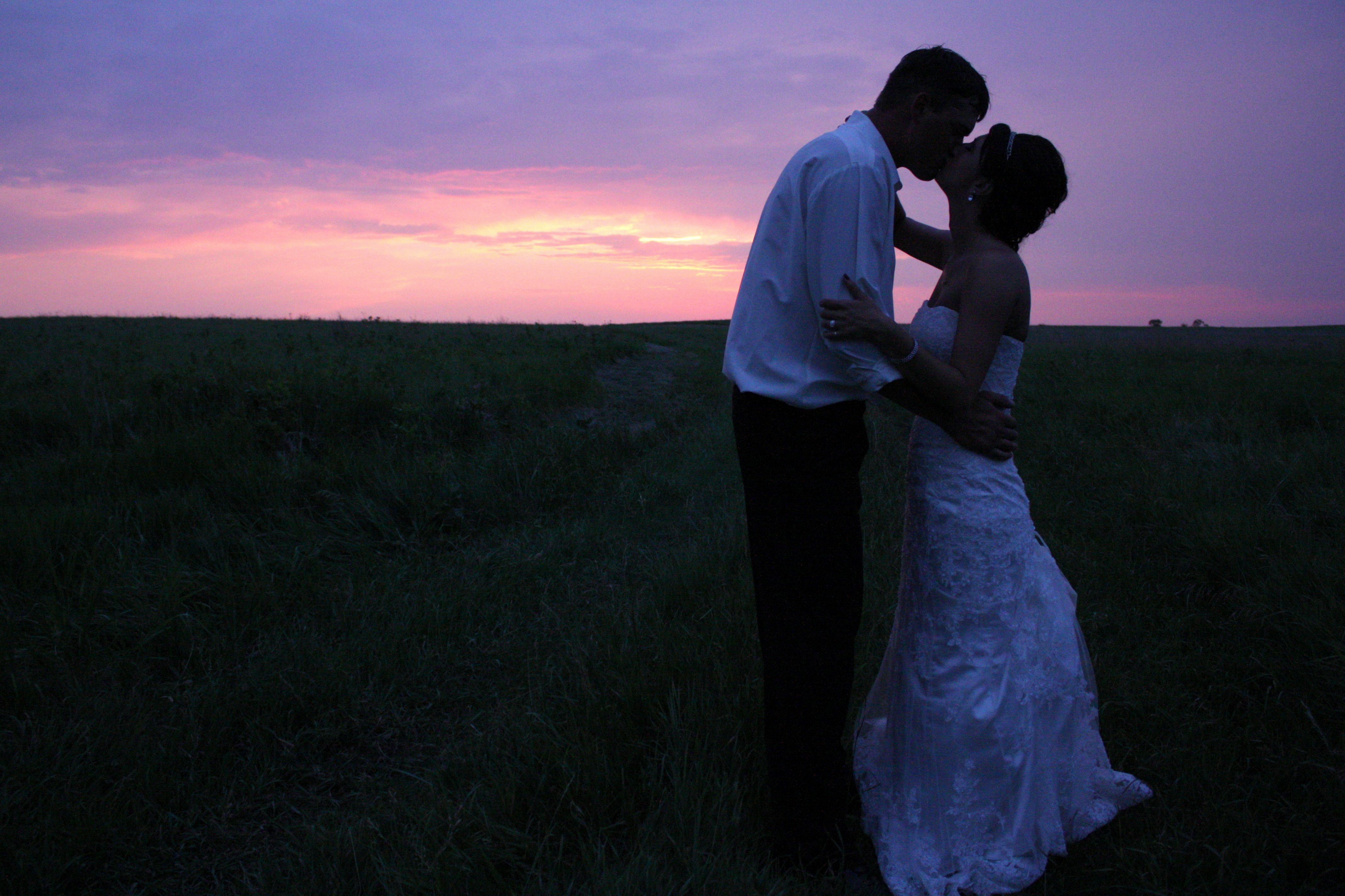 Sunset picture I took at my cousin's wedding