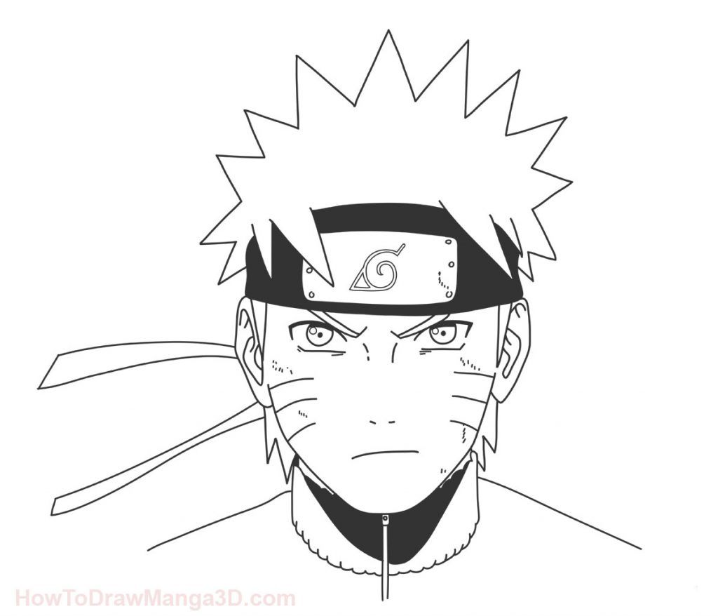 How To Draw Naruto Step By Step Naruto Sketch Drawing Naruto