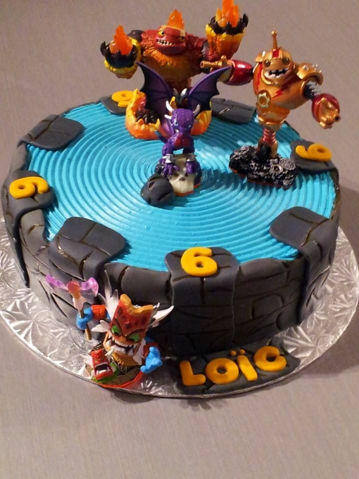 Skylanders Cake Nos Cr 233 Ations Joly Gato Birthday Cake