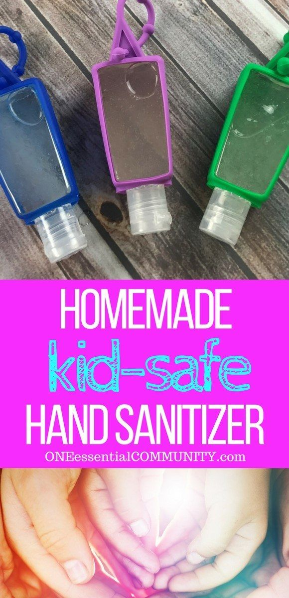 Diy Hand Sanitizer Gel Essential Oils For Kids Homemade