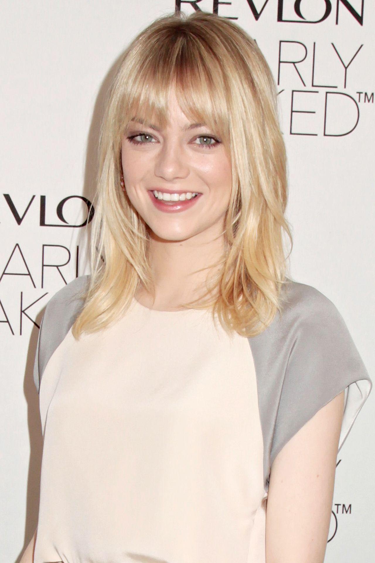 Emma Stone Hair Style File Hair Styles Medium Hair Styles