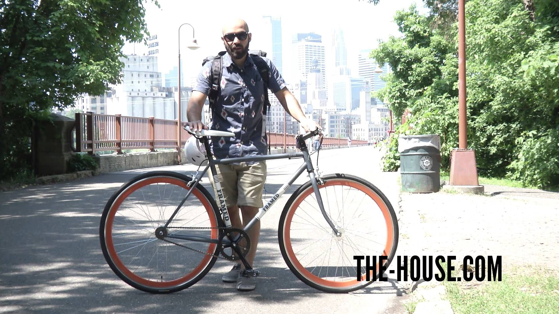 Framed Lifted Flat Bar U Brake Bike Review The House Com