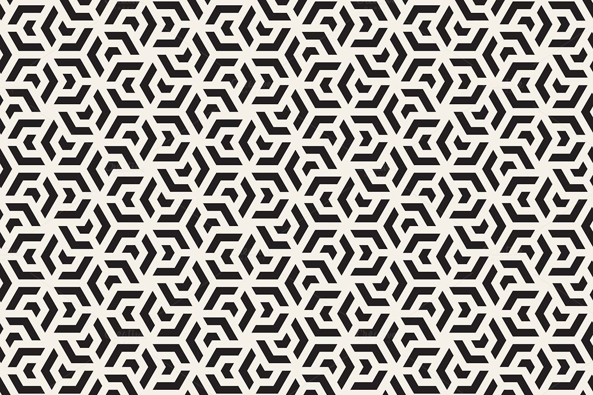 Geometric Seamless Patterns Set 6 by Curly_Pat on Creative Market