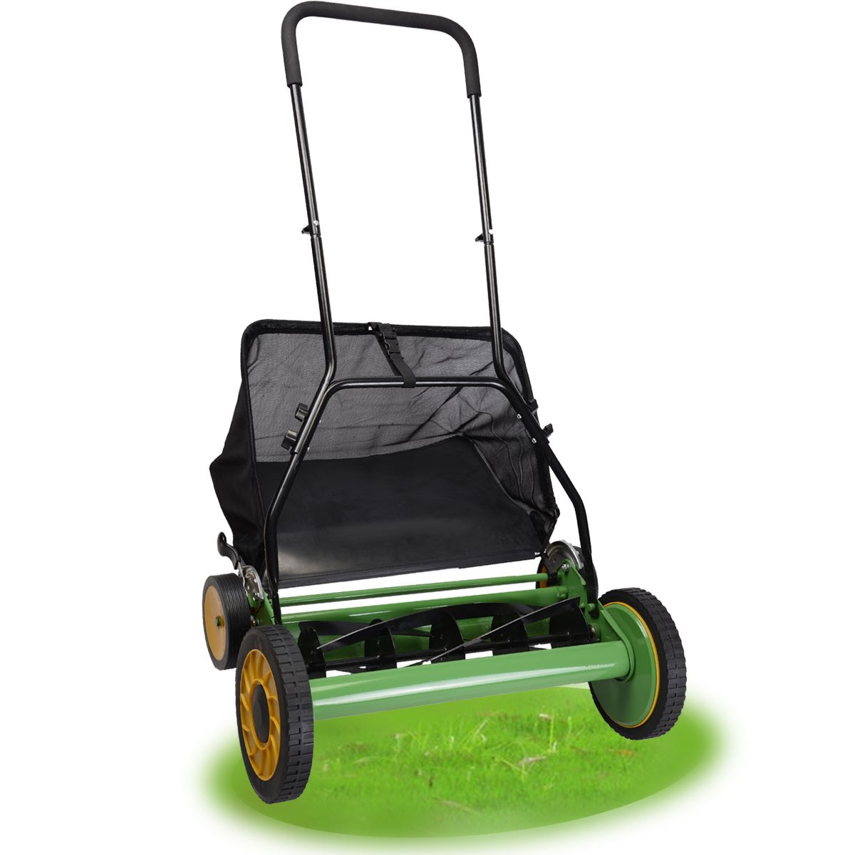 """20"""" Height Adjustable Classic Hand Push Lawn Mower Reel"""
