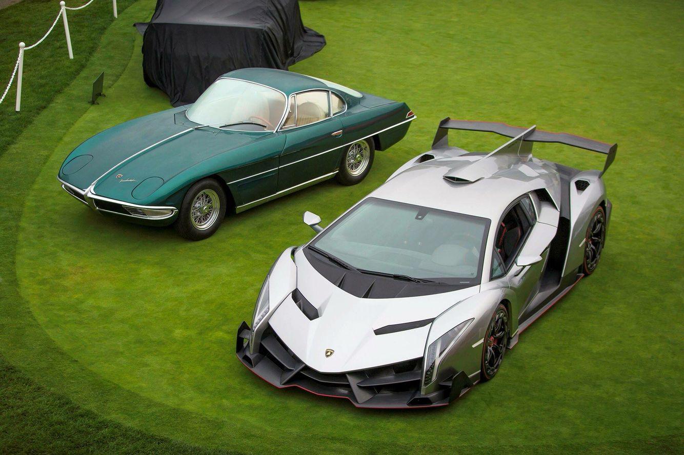 Ah The Oldest And Newest Lambos Very Nice Lamborghini New Lambo Lamborghini Veneno